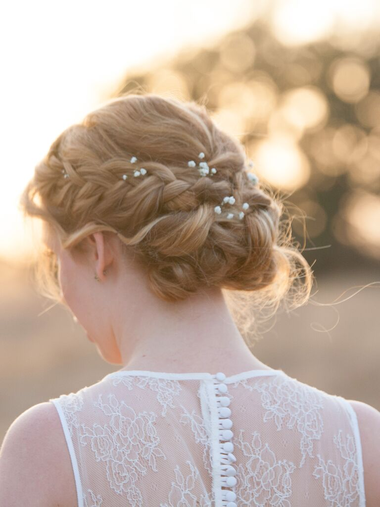 13 braided updo ideas with flowers