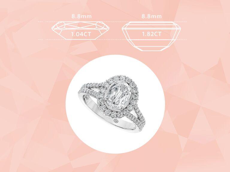 L'Amour Crisscut oval engagement ring