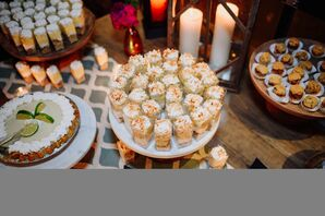 Dessert Table with Pies and Ice Cream