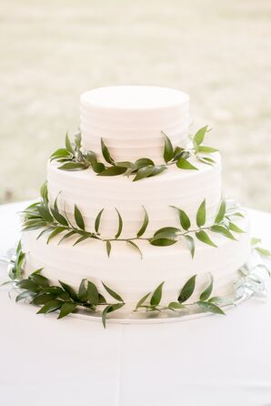 Combed Buttercream Cake with Vine-Wrapped Tiers
