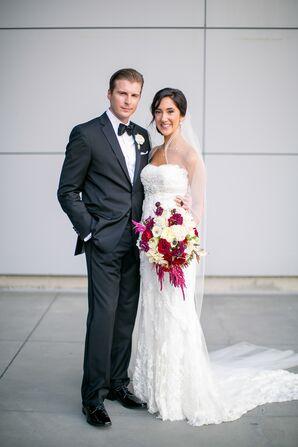 Black Tie Bride and Groom at W Austin Hotel