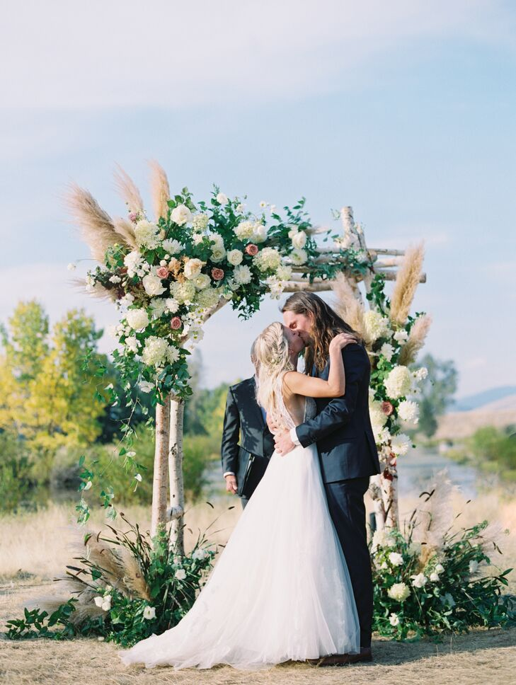 First Kiss and Bohemian Wedding Arch