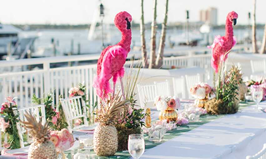 Flamingo Luau party themed inspiration and ideas