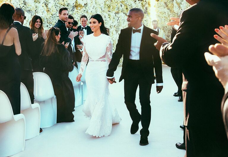 50 standout celebrity wedding dresses kim kardashian wedding dress junglespirit Gallery