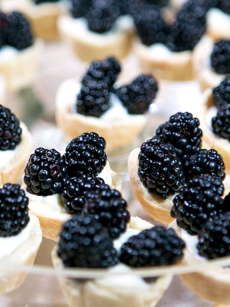 Mini Blackberry tart wedding desserts