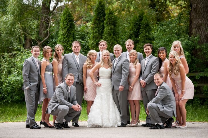 Gray and Blush Wedding Party