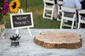 Wooden-Slab Guest Book