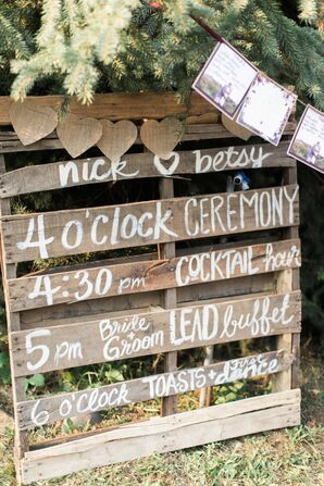 Rustic Wood Pallet Sign