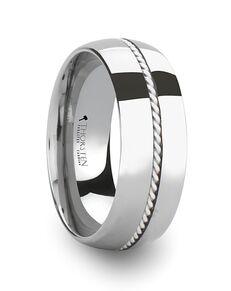 Mens Tungsten Wedding Bands W365-DSBH Tungsten Wedding Ring