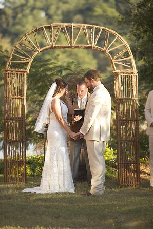 Geometric, Rustic Wooden Wedding Arch