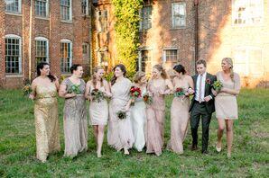 Vintage-Style Glam Bridesmaids