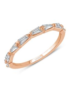 Uneek Fine Jewelry SWUS9573B Rose Gold Wedding Ring