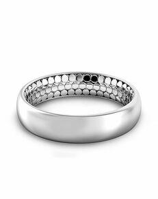 Danhov Tubetto Men's Inside Out Band Platinum Wedding Ring