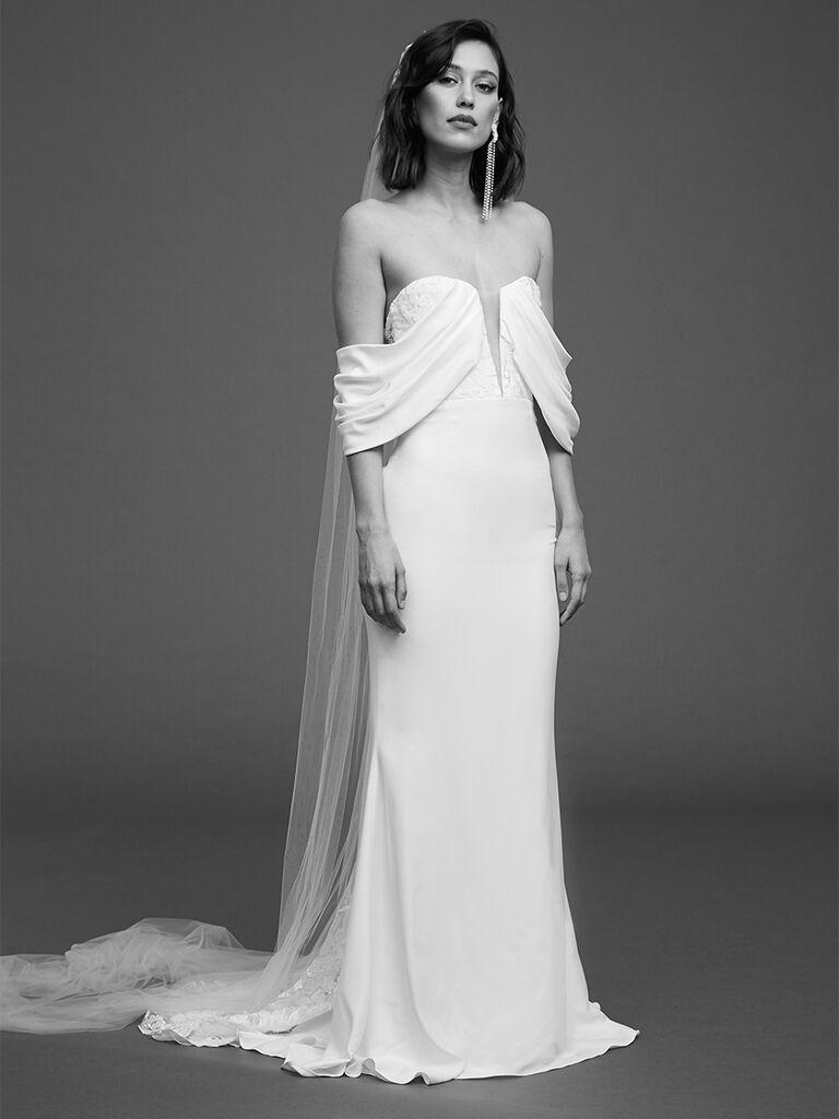 Rime Arodaky high waisted bustier dress