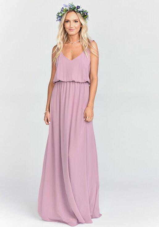 9b7ef72136b Show Me Your Mumu Kendall Maxi Dress - Antique Rose Chiffon V-Neck  Bridesmaid Dress