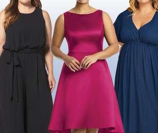 Plus-size bridesmaid dresses
