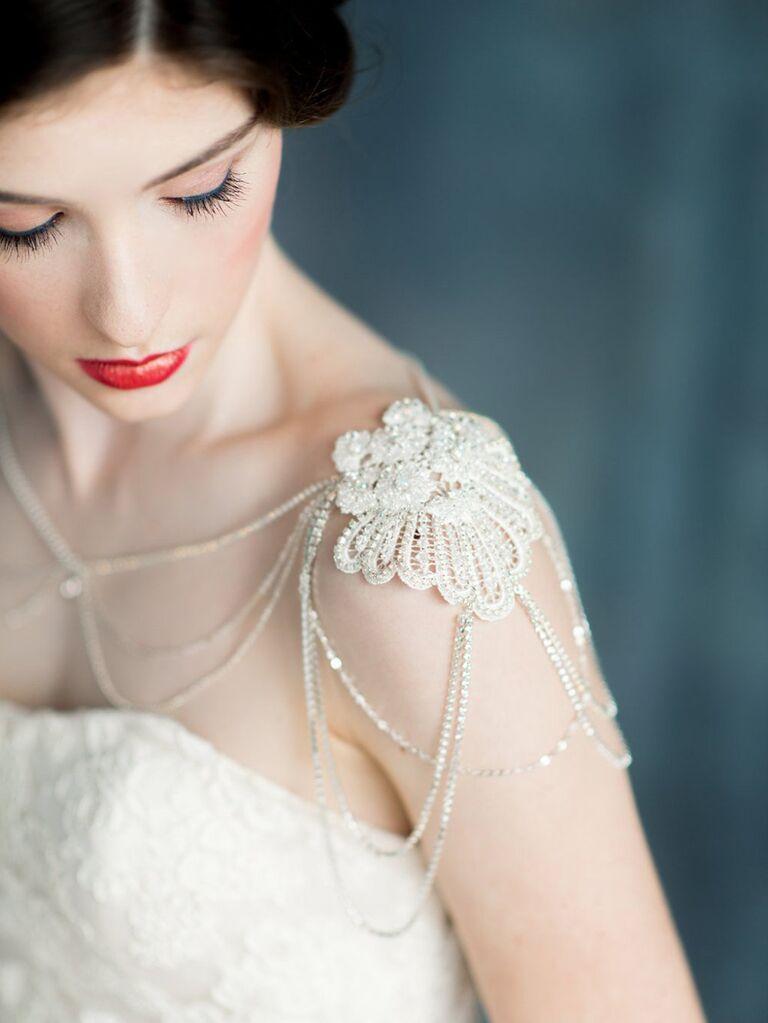 Lace bridal shoulder necklace