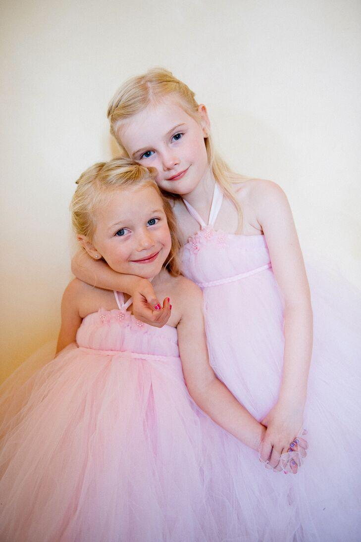 Halter-Style Pink Flower Girl Dresses