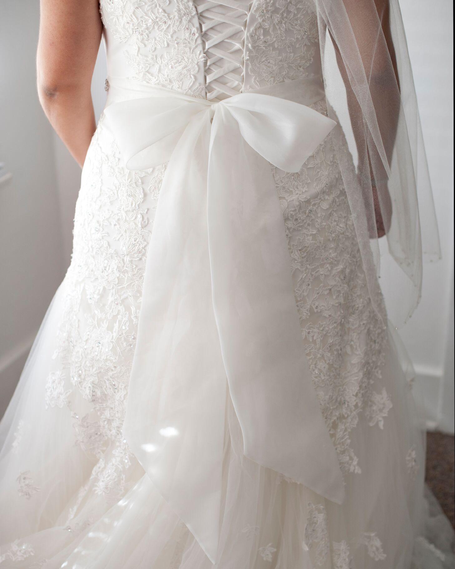 Corset Bodice Wedding Dress with Bow