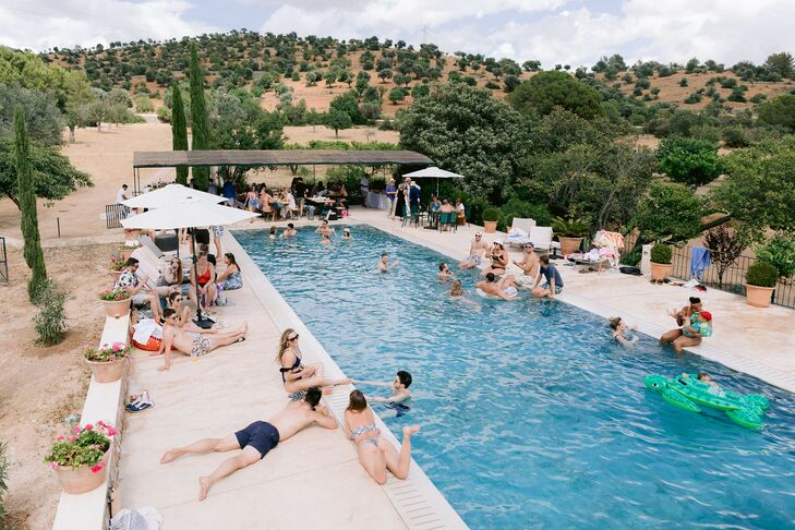 Pool Party at Finca Es Cabas in Mallorca, Spain