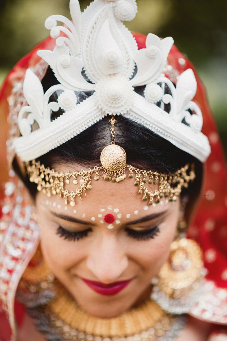 Bride with Traditional Indian Wedding-Day Accessories