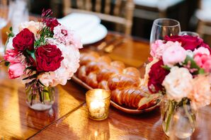 Red and Pink Floral Centerpieces