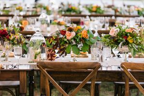Rustic Autumnal Wood Tablescapes