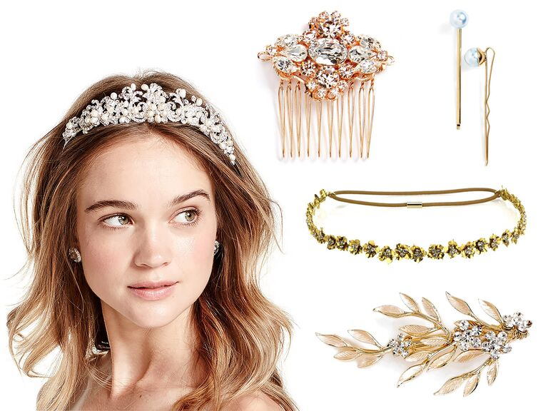 Beach Gold Vintage Wedding And Bridal Hair Accessories
