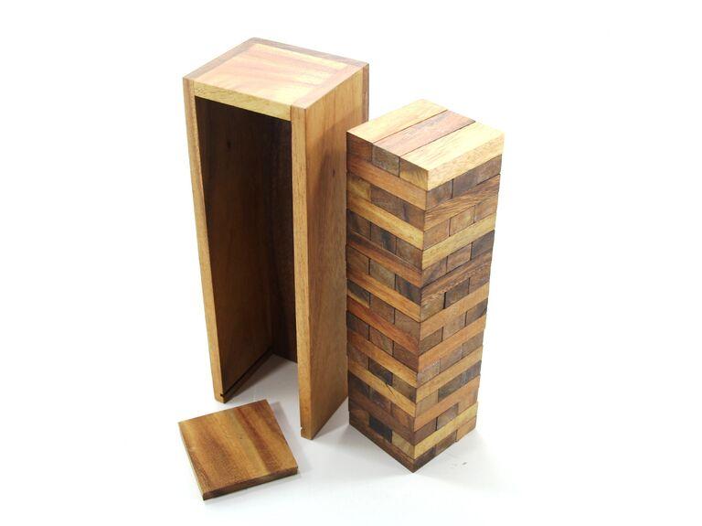 Wooden Jenga game set