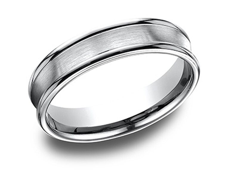 Marisa Perry comfort fit satin finished platinum band