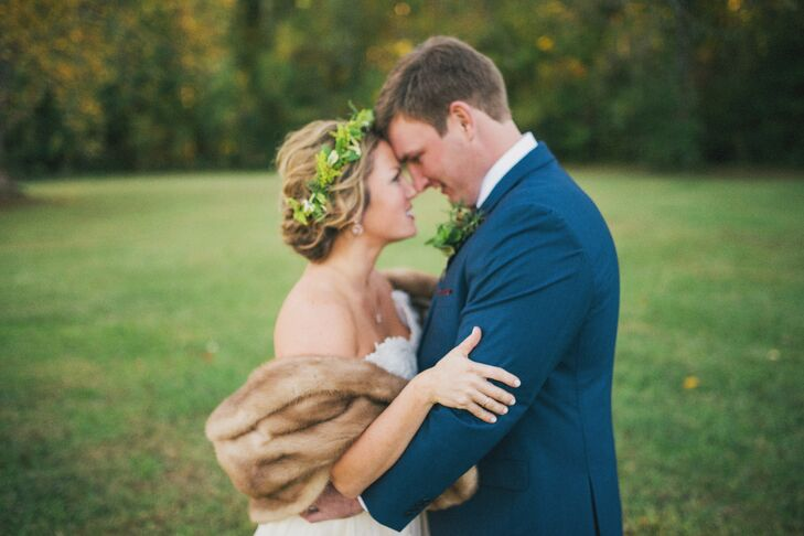 """Dan and Kelley chose the Lumineers' cover of """"This Must Be the Place,"""" a song written by the Talking Heads. It incorporated both of their favorite bands. The bride's sister sang the song and a friend played acoustic guitar."""