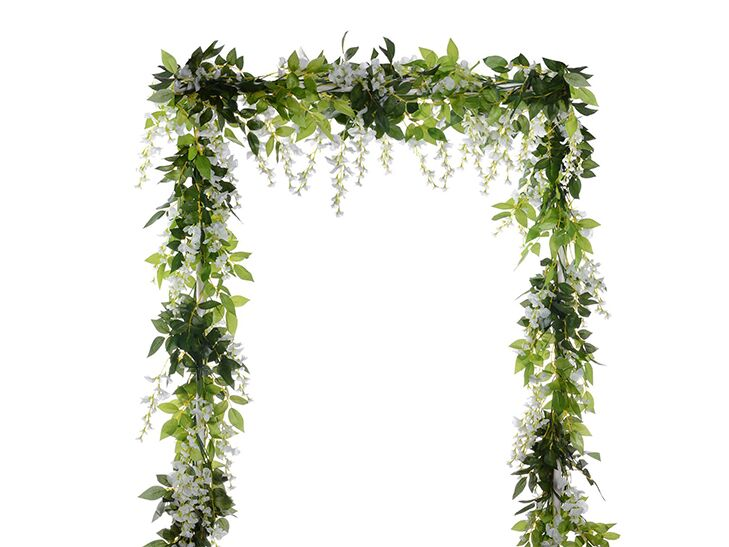 wisteria is a symbol of love and happiness so what better place to display the flowering vine than at your wedding drape the faux greenery over ceremony - 57 Unique Wedding Vows Examples Impression