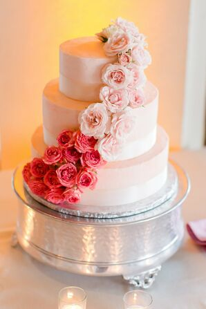 Cascading Flower Wedding Cake