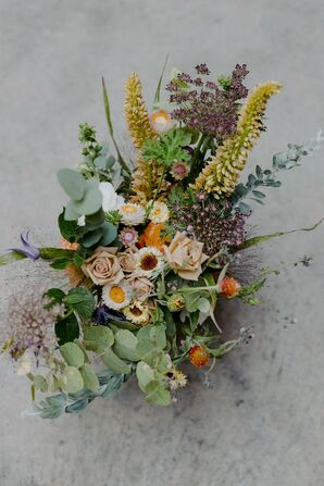 Colorful Arrangement with Eucalyptus at Brooklyn, New York, Elopement