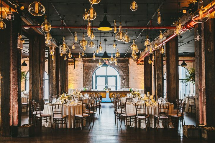 Romantic Reception at Liberty Warehouse in Brooklyn, New York