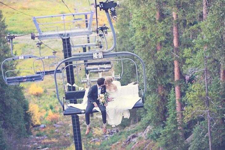 Colorado-Inspired Ski Lift Wedding Transportation