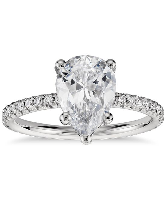 Blue Nile Studio Pear Shaped Petite French Pave Crown ...