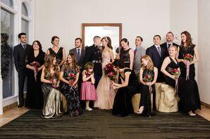 Glamorous Floor-Length Black Bridesmaid Dresses
