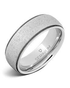 Serinium® Collection Corsair — Satin Dome Serinium® Ring-RMSA006063 Serinium® Wedding Ring