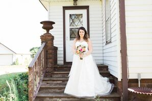 Bride at Rubies and Rust Barn in Belle Plaine, Minnesota