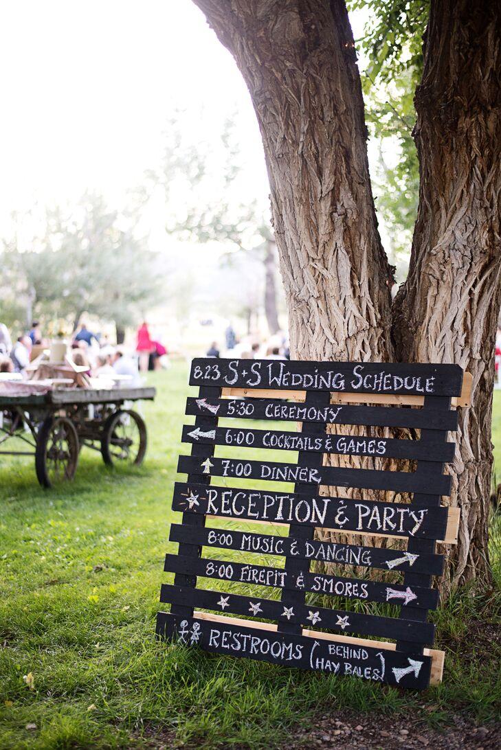 Rustic, DIY Wedding Program Display