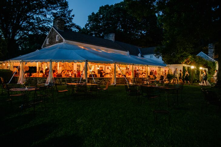 White Tent Reception At Night