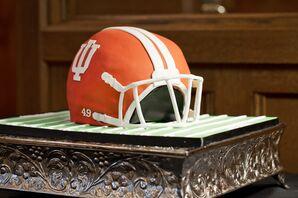 Indiana University Football Helmet Groom's Cake