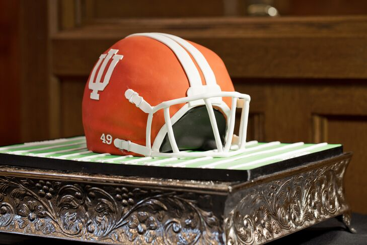 Indiana University Football Helmet Groom's Cake