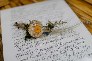 Boutonniere for Brooklyn, New York, Elopement