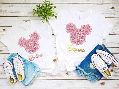 disney bridesmaid shirts