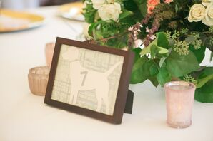 Dog Shaped Wedding Table Numbers