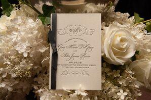Elegant Letterpressed Wedding Programs
