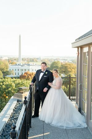 Wedding Portraits at Hay-Adams Hotel in Washington, DC