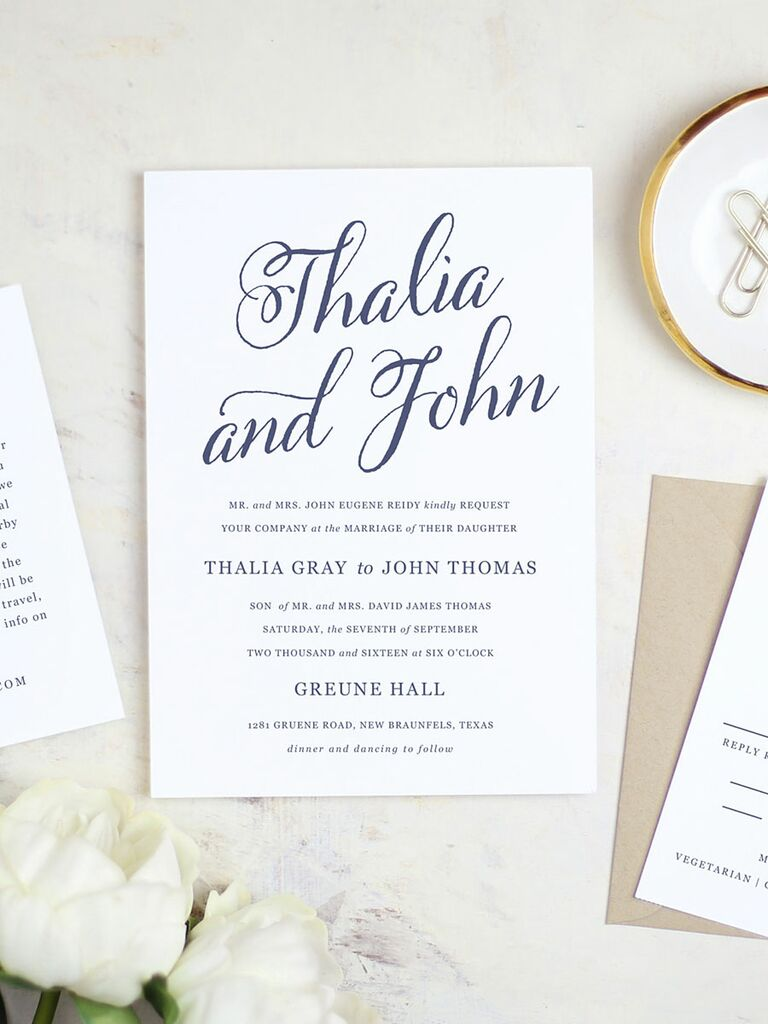 Script Printable Wedding Invitation Template